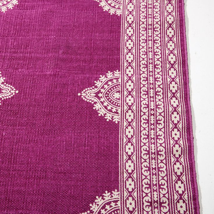 Pink Printed Cotton Rug Decoration New Collection Zara Home United Kingdom
