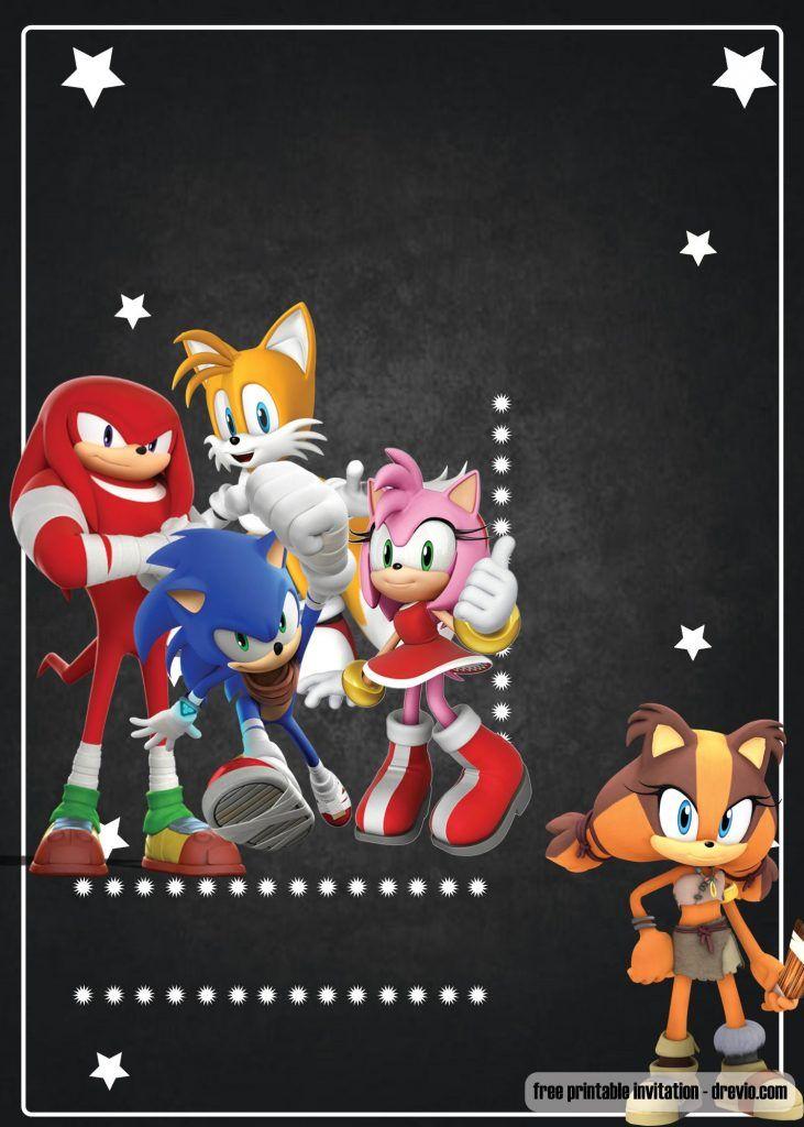 Free Printable Sonic The Hedgehog Invitation Template Drevio Sonic Birthday Parties Sonic Birthday Sonic Party