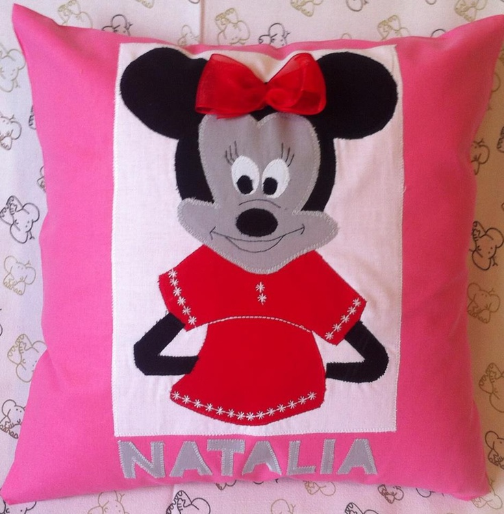 Happy Pillow- Minnie- handmade pillow  35x35 cm  Order at: happy_pillows@yahoo.com