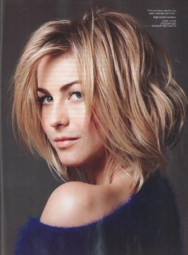 Julianne Hugh short hair
