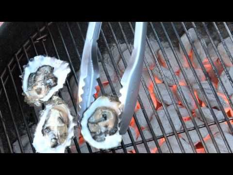 Char-Grilled Oysters with Creole Remoulade Recipe - http://learntocookvideos.com/char-grilled-oysters-with-creole-remoulade