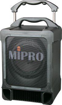 Mipro MA707PA 70 Watt Portable PA System by MIPRO. $519.00. Rugged construction, large wheels and a fully retractable luggage-pull handle allow MIPRO's 70-Watt Portable Modular PA System to tackle even the roughest terrain, making this system ideal indoors and out. Reach audiences as large as 700 people with crystal-clear sound thanks to 70 watts of power and an eight- inch full-range loudspeaker. The rechargeable built-in battery extends the portability of this...