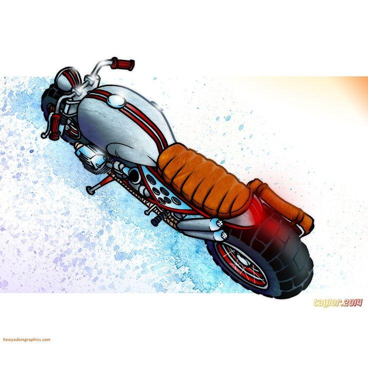 Moto Guzzi Scrambler http://www.redbubble.com/people/howyadoin/calendars/13088352-bikes #motorcycle #motorcycleart #motoguzzi #scrambler