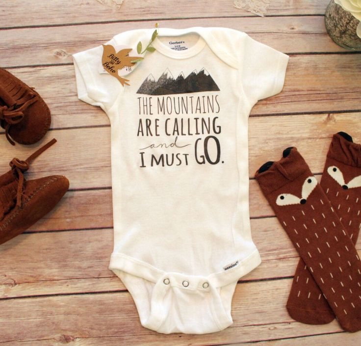 Mountains are Calling Onesie®, Baby Boy Clothes, Boho Baby Clothes, Baby Shower Gift, Cute Baby Onesies, Hipster Baby Clothes, Baby Boy Gift by BittyandBoho on Etsy https://www.etsy.com/listing/273641180/mountains-are-calling-onesie-baby-boy