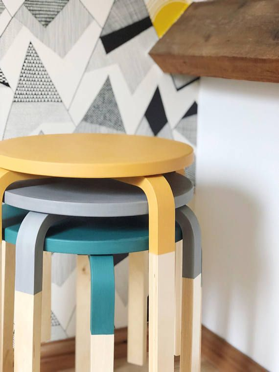 Swell Scandi Trio Of Stacking Stools By Rouncefield On Etsy Theyellowbook Wood Chair Design Ideas Theyellowbookinfo