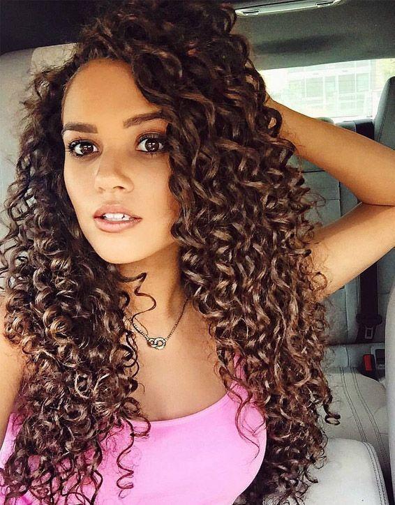 Elegant Curly Hairstyles For Long Hair In 2019 Curly Hair Styles Long Hair Styles Long Curly Hair