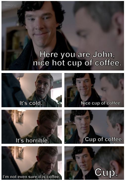 Sherlock trying to be considerate... he should know better