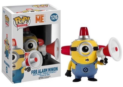 Bee-do Bee-do. This mischievous henchmen from Despicable Me will make the perfect addition to your Minion collection. You could always use a few extra precious criminal masterminds! The Despicable Me Movie Fire Alarm Minion Pop! Vinyl Figure measures 3 3/4-inches tall and comes packaged in the standard window display box. Does anyone have any bapples? #funko #collectible #popvinyl #actionfigure #toy #DespicableMe #firealarm #Minion