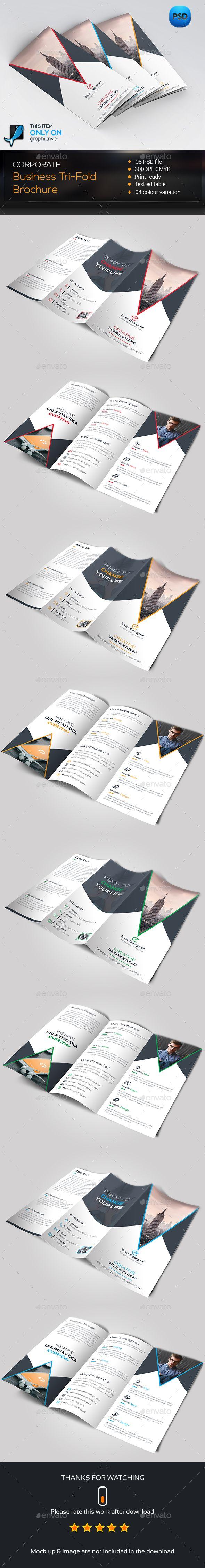 Corporate Trifold Brochure Template PSD #design Download: http://graphicriver.net/item/corporate-trifold-brochure/14272705?ref=ksioks