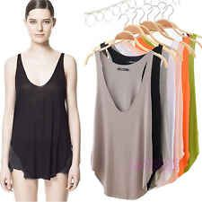 Fashion Womens V-Neck Vest Summer Loose Sleeveless Tank T-Shirt Tops