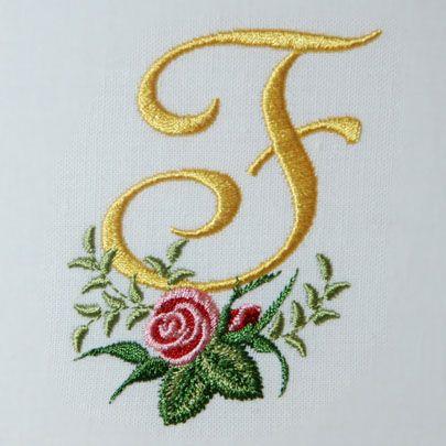 Heirloom Roses Alphabet- F