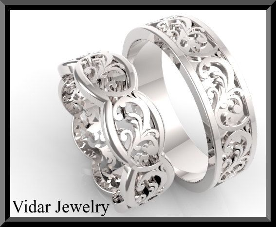 His and Hers Wedding BandsMatching Wedding Bands by Vidarjewelry, $2500.00
