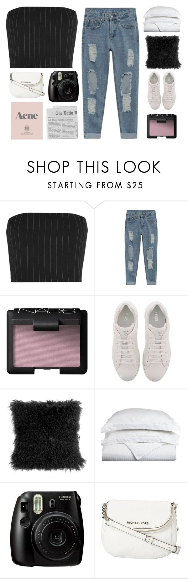"""HEY BROTHER DO YOU STILL BELIEVE IN ONE ANOTHER"" by lonelyhearts-clubb ❤ liked on Polyvore featuring Thierry Mugler, NARS Cosmetics, Fendi, Pillow Decor, Luxor Treasures, Prada, Fujifilm, MICHAEL Michael Kors and nataliesimplesetss"