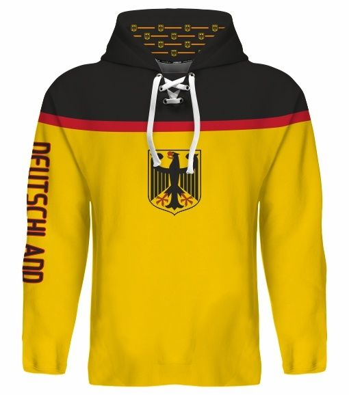 NEW 2015 Germany Deutschland Hockey World Cup Hoodie NHL Seidenberg Goc Ehrhoff
