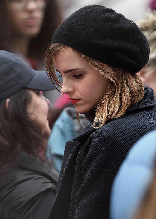 Emma Watson at the Women's March in Washington, DC (January 21, 2017)