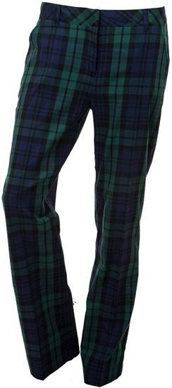 Tommy Hilfiger Leah Ladies Golf Pant Blackwatch Plaid | Golf4Her