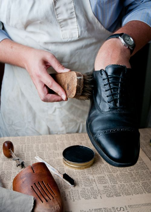 How to polish shoes tutorial  #backtoschool #schooluniform
