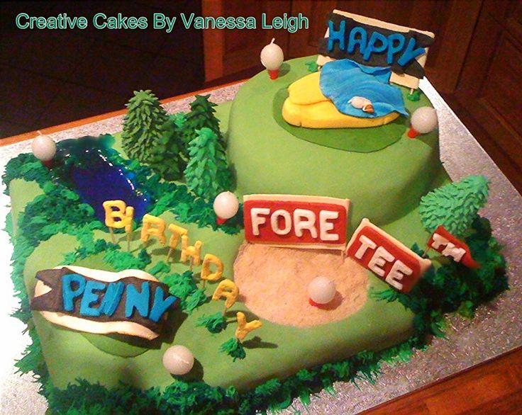40th birthday golf course cake