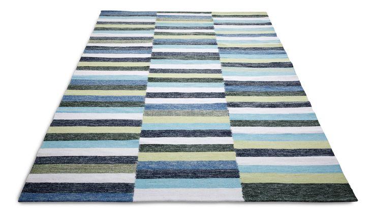 REVOLI-matto 140 x 200 cm (Sinivihreä)