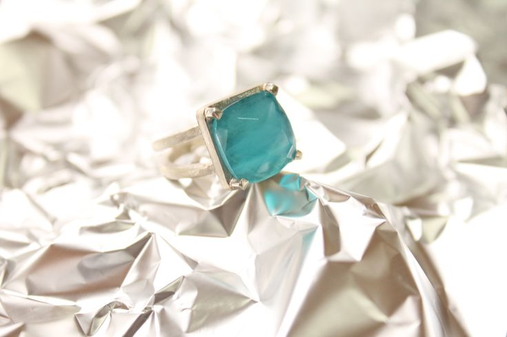 AF3 anillo facetado cielo #heidipeiranojewlery #coleccioncristals