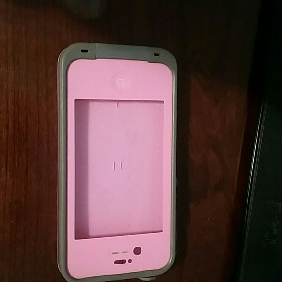Life proof case for iPhone 4s Pink and gray used iPhone 4s life proof case.   It does have wear and some scratches. Accessories Phone Cases