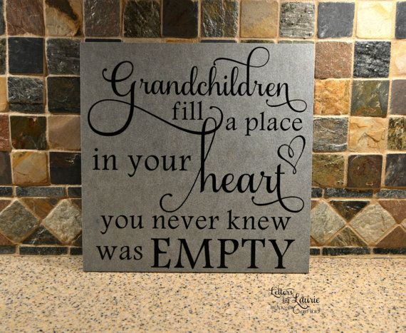12x12 Grandchildren fill a place in your heart by LettersbyLaurie