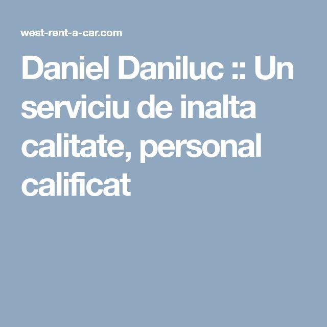Daniel Daniluc :: Un serviciu de inalta calitate, personal calificat