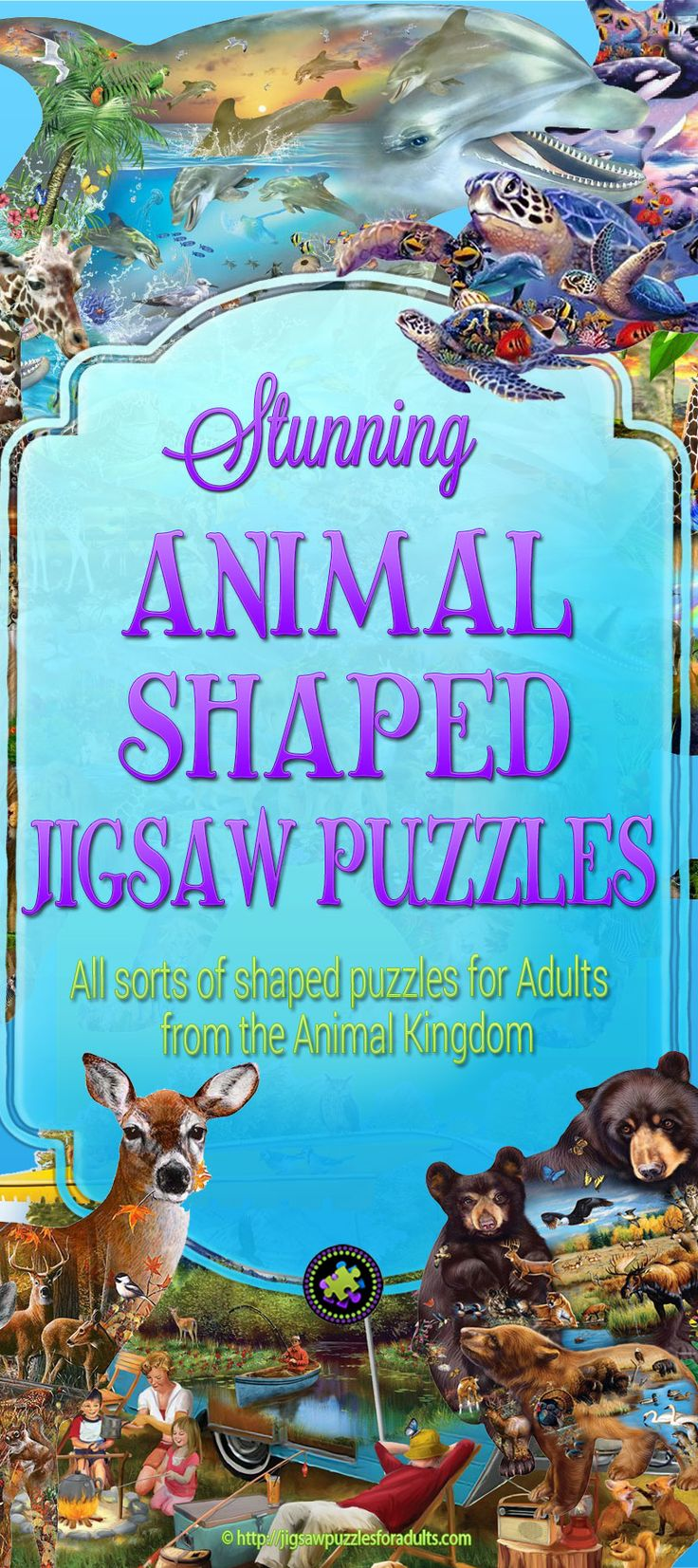 Absolutely LOVE these unique animal shaped jigsaw puzzles! These jigsaw puzzles are shaped like animals from the Animal Kingdom. Whether you are looking for lions, tigers, elephants, or other African animals, you'll find amazing animal jigsaw puzzles on this page. Not into African animals you also find farm animals, forest animals, and even your favorite underwater animals. Sot there is lots to choose from. Buy one of these animal shaped puzzles for a bit of challenging enjoyment.