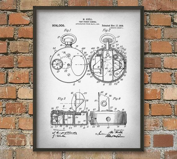 Vest Pocket Camera Patent Wall Art Poster by QuantumPrints on Etsy