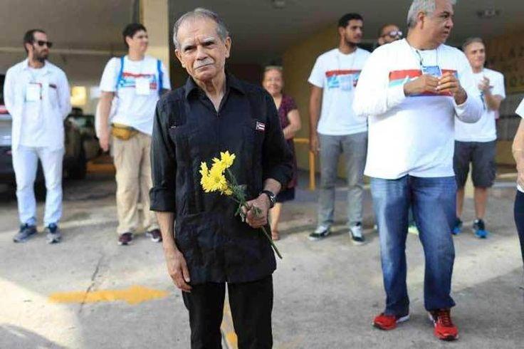 Con Óscar López Rivera después de su excarcelación, desobediencia civil, independencia, Libertad, Puerto Rico, entrevista,
