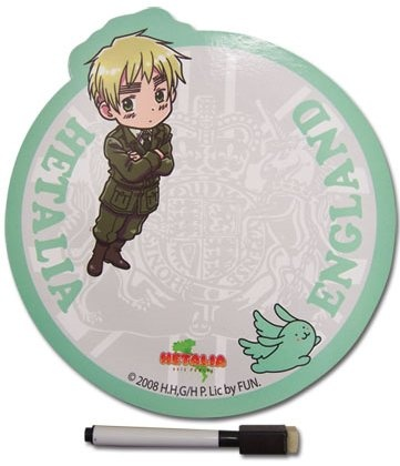 The Hetalia magnet notepad comes with a dry-erase marker.