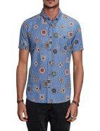 ZANEROBE Alanis S/S Shirt $99.95  #fashion #style #blue #trend #shop #menswear #print #zanerobe