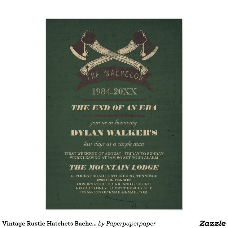 25 best ideas about bachelor party invitations on for Cabin bachelor party