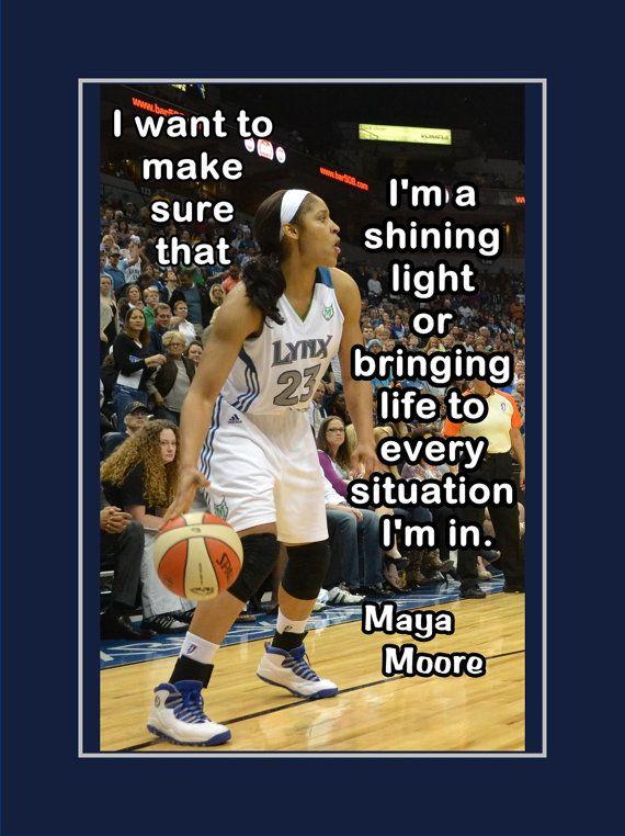 Maya Moore Minnesota Lynx UCONN Basketball by ArleyArtEmporium, $11.99