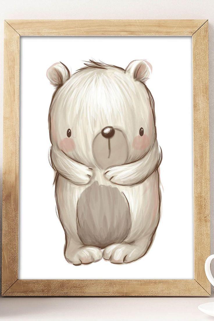 Baby Wald Tiere Bild Set – Kinderzimmer Wandgestaltung – #baby #Bild #Kinderzimmer #Set #Tiere