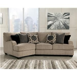Katisha - Platinum 2-Piece Sectional with Left Cuddler by Signature Design by Ashley at AHFA