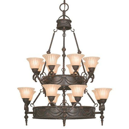 Isabella Earthen -colored 16-light Chandelier with Shade
