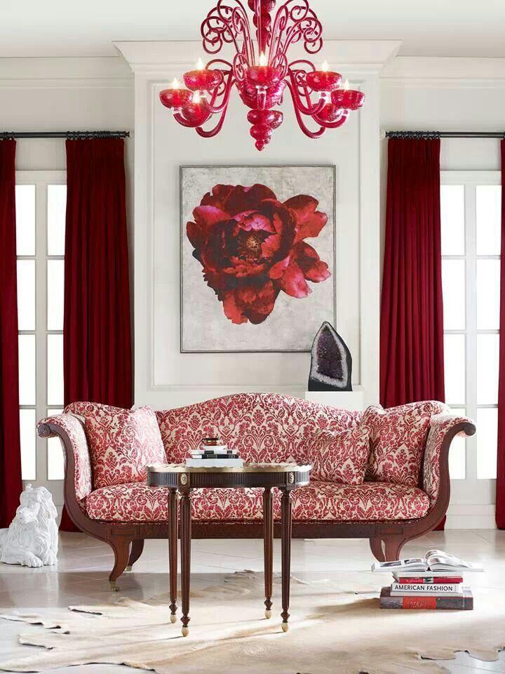 Floral Wall Art Behind Sofa