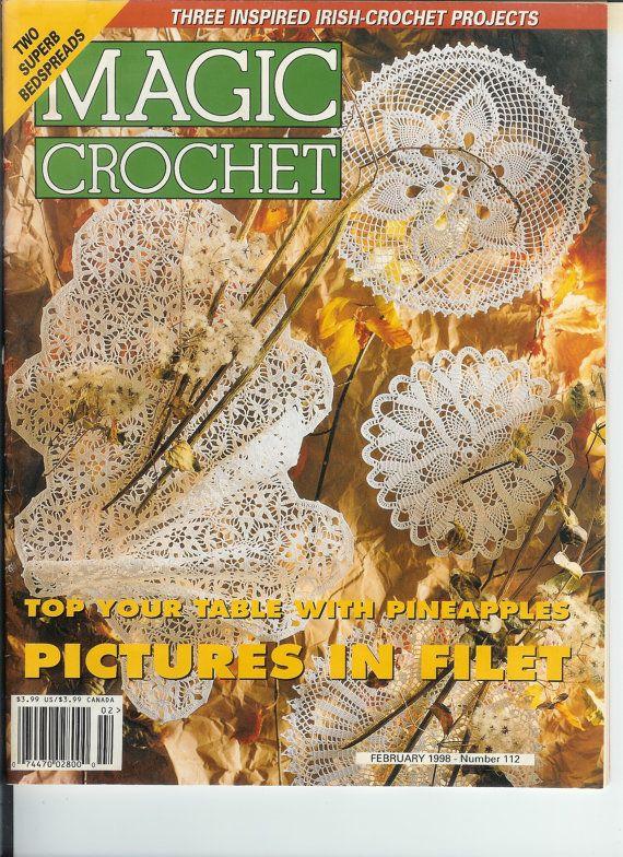 Magic Crochet magazine Feb 1998 by handsofblessing on Etsy, $2.50