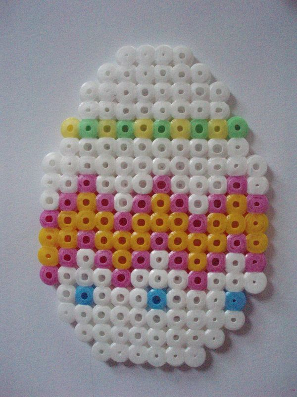 White Easter Egg hama perler beads by jaffacake940 on deviantart