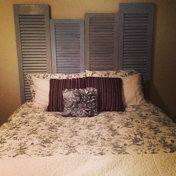 Old Shutters Painted With Chalk Paint Made Into