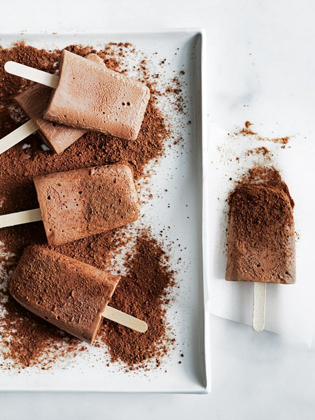 chocolate malt popsicles from Donna Hay