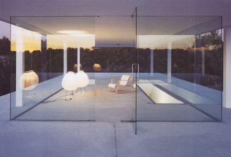 Glass on Concrete Underground Home