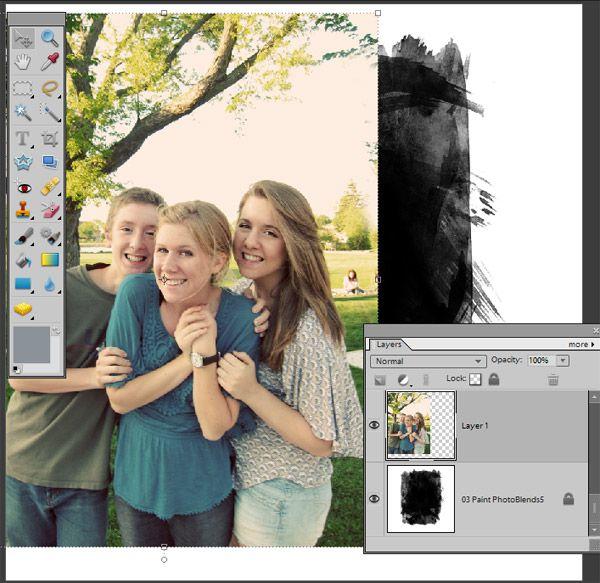 Digital Photo Blends tutorial w/PE