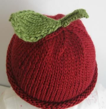 My little Cherry! hand knitted Baby hat by handmadefuzzy for $18.00