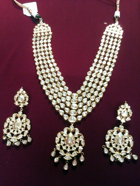 Uncut polki diamond set