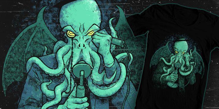 """Call of Cthulhu"" t-shirt design by JordyTheGnome"