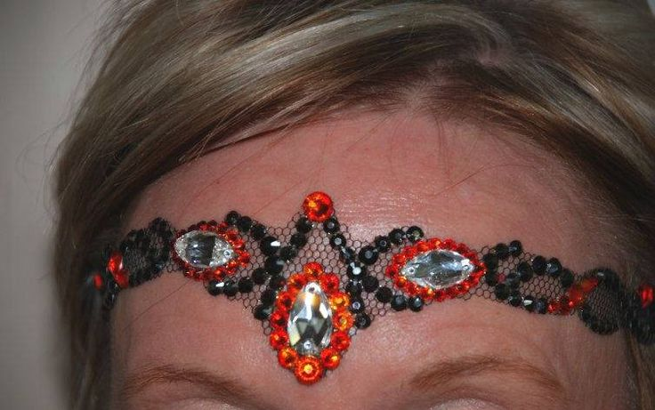 Dance partners Latin costume part 3. This headpiece is a Circlet   All stones are Swarovski