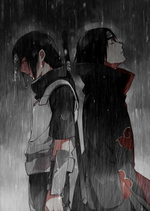 "白黒 ""The village does have its dark side and its inconsistencies, but I'm still Konoha's Itachi Uchiha."""