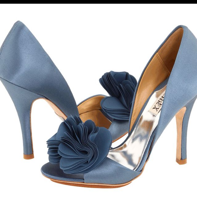 slate blue wedding shoes... These Badgley Mischka shoes are exactly like my wedding shoes, only in blue! Could be your something blue!